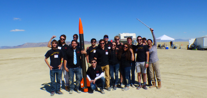 The team launching Hokie 0.5 in Nevada (September 2017)