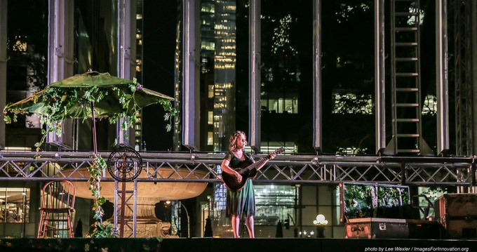 """Performing """"Greenwood Tree"""" on Bryant Park's summer stage"""