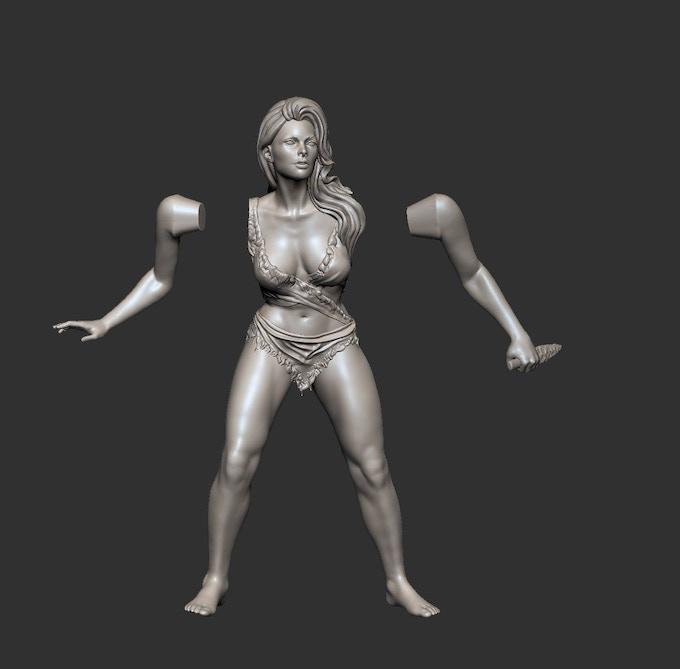 Initial Cavewoman Design