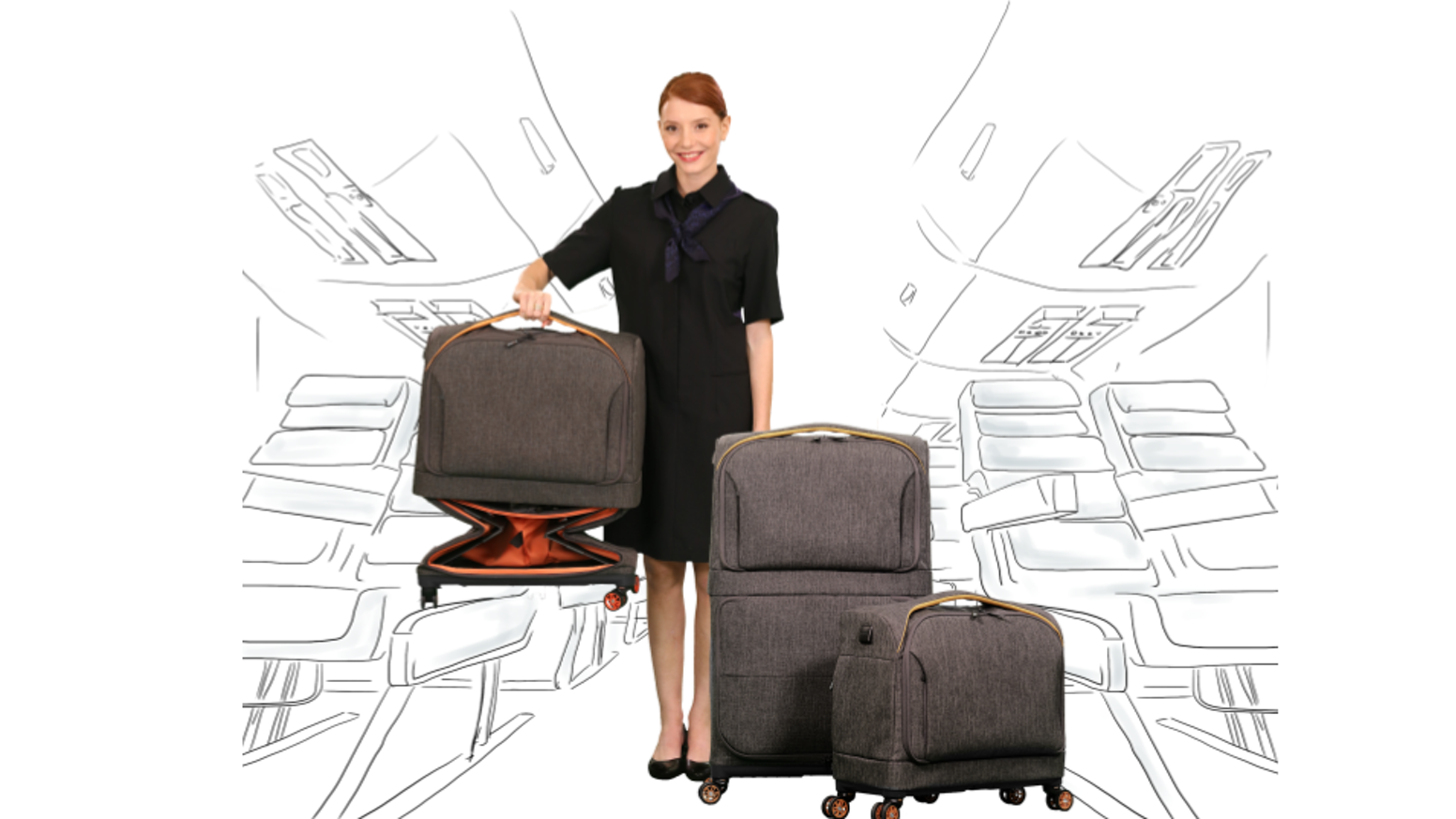 The only carry-on that expands to a full-size suitcase in seconds Now available on INDEMAND