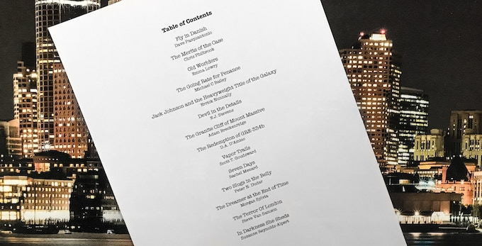 "The Table of Contents for ""The Final Summons"""