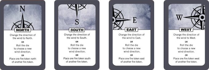 Wind cards allow you to choose one of three actions.