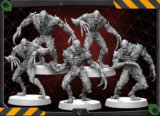 Driller Worker figures 3D renders.