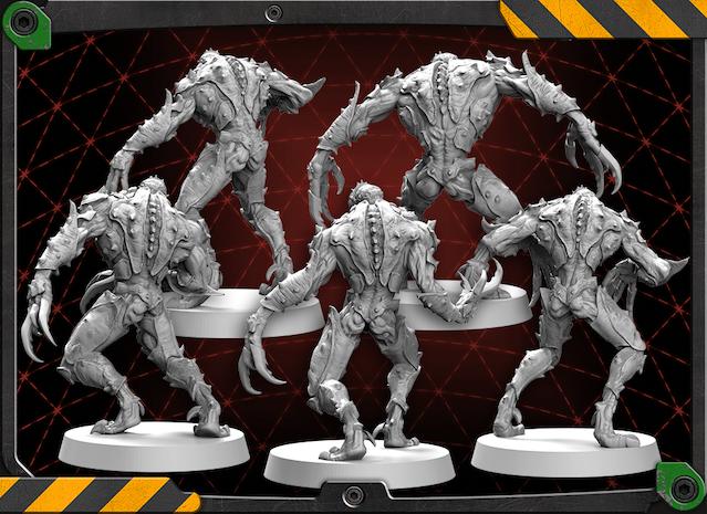 Back of the Driller Worker figures 3D renders.
