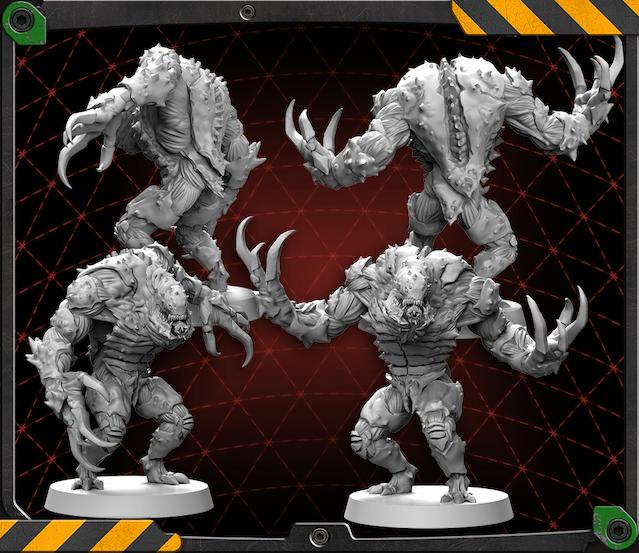 Driller Tank figures 3D renders.