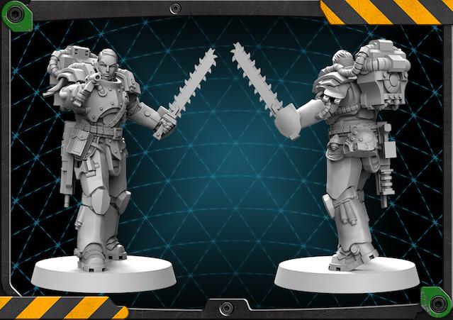 Miranda figure 3D render.