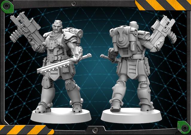 Umkos figure 3D render.