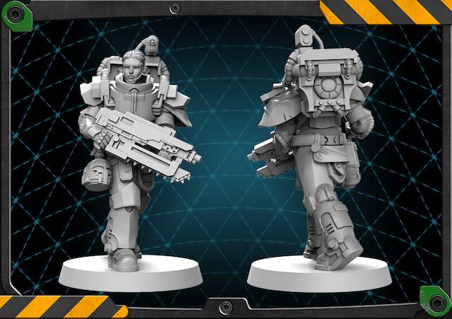 Radka figure 3D render.