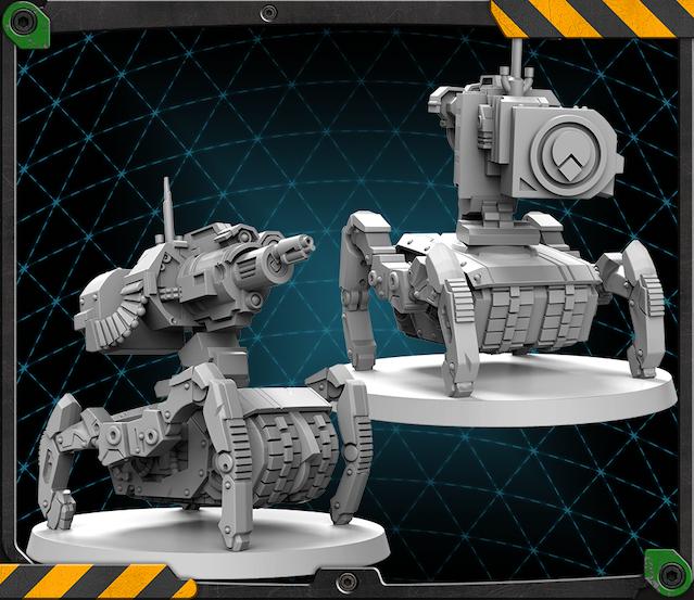 Vindicator Bot figure 3D render.