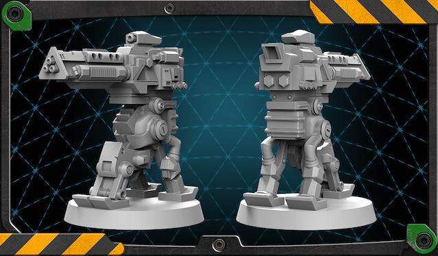 Maul Sentry Gun figure 3D render.