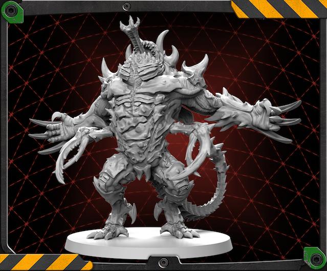 Driller Abomination figure 3D render.
