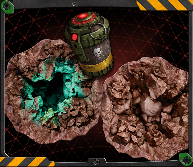 An Open Pit is incredibly dangerous. Collapse it with a Seismic Grenade as soon as you can!