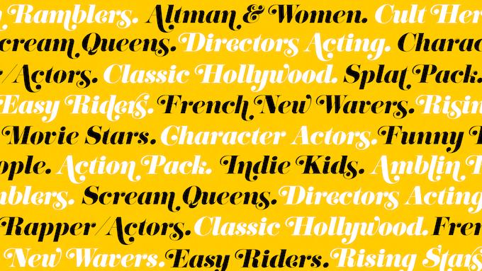 Cinephile genres