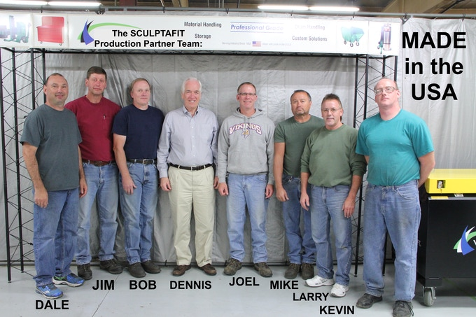 "The SCULPTAFIT System Production Team ""MADE in the USA"" (Minnesota)"