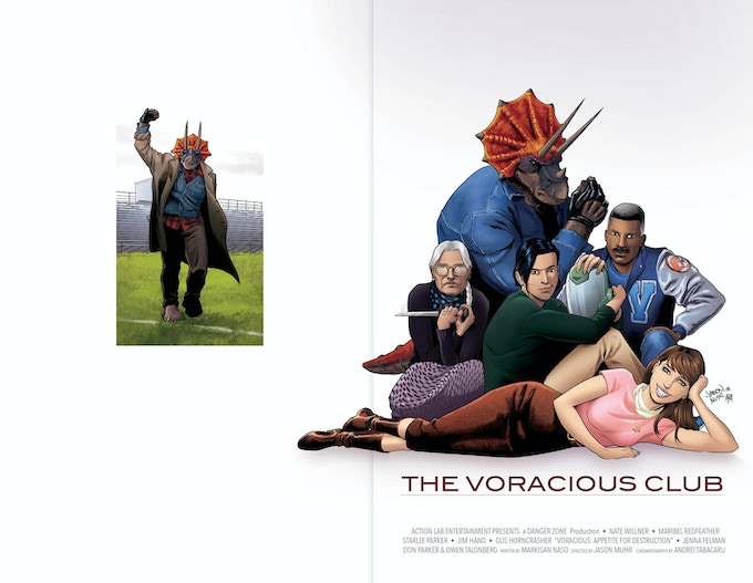 """VORACIOUS: Appetite for Destruction #1 """"Breakfast Club"""" Exclusive Edition! 60 pages! Featuring a wraparound homage to the classic movie poster!"""