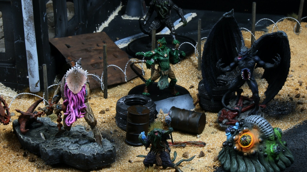Creature miniatures inspired by HP Lovecraft's Cthulhu mythos and first step in a new sci-fi and horror based tabletop war game.