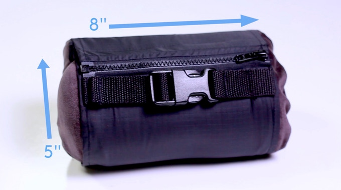 The BedRoll compression/travel case provides the convenience of compact carry and packing.