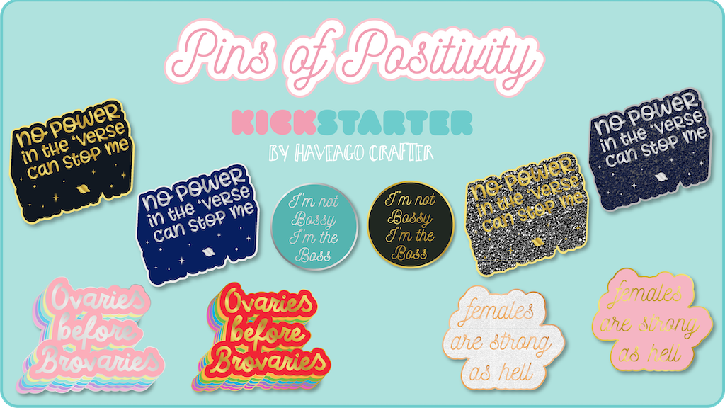 Pins of Positivity - positive quote hard enamel lapel pins project video thumbnail