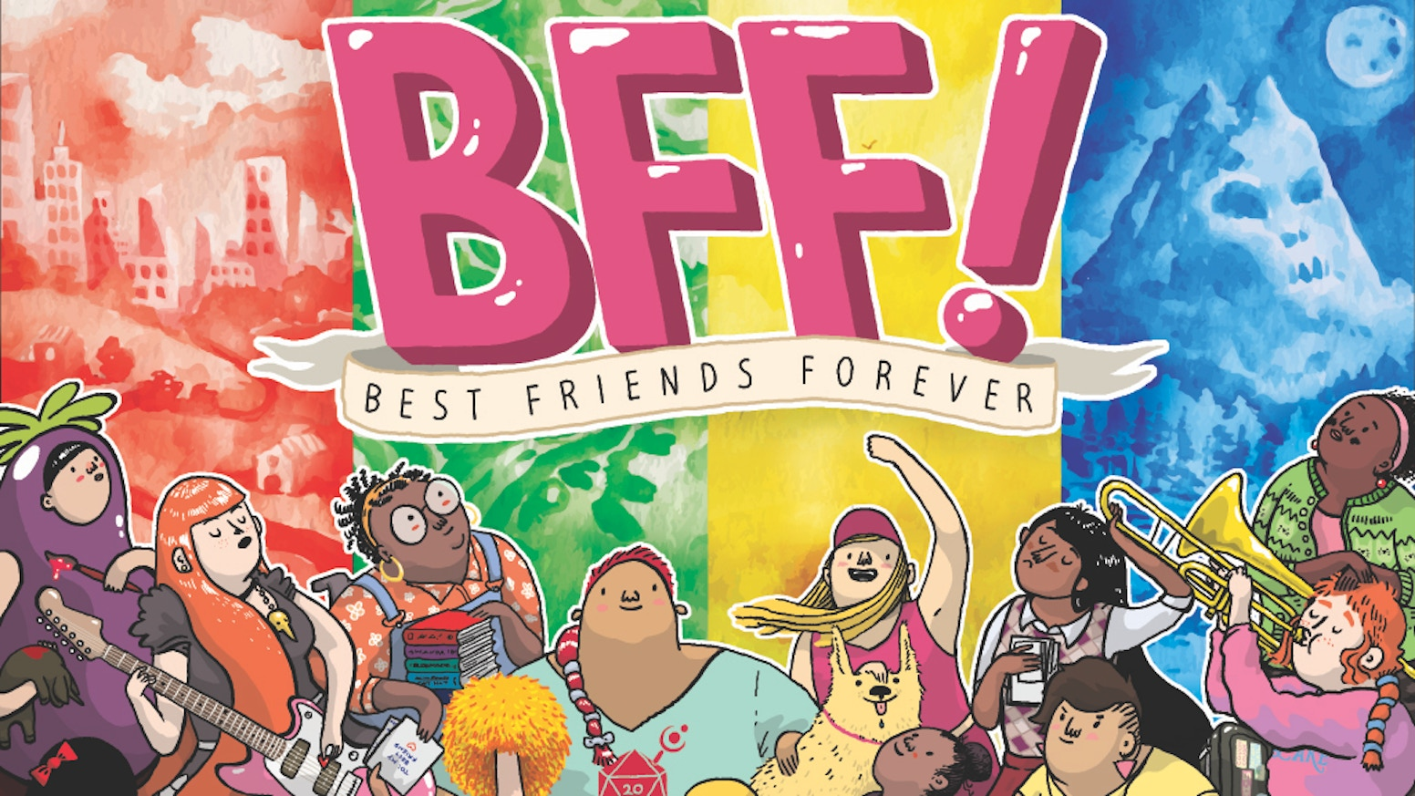 Best Friends Forever is a roleplaying game for 2-6 players of all ages by mother & son design duo: Ross Cowman and Terri Cohlene.