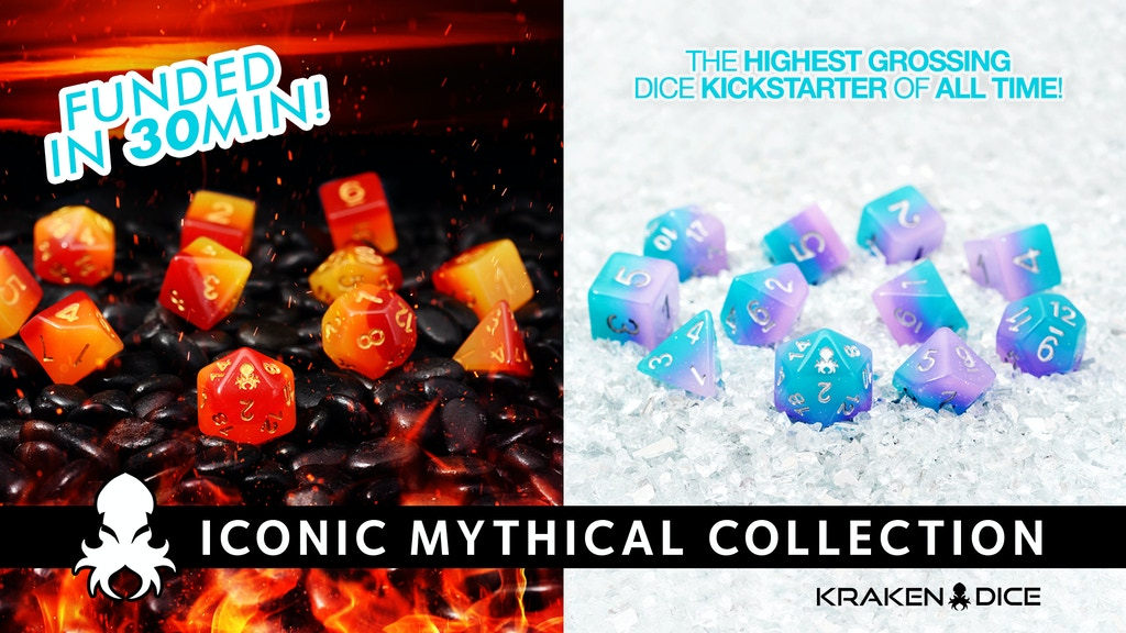 Iconic Mythical Collection RPG Dice Sets by Kraken Dice project video thumbnail