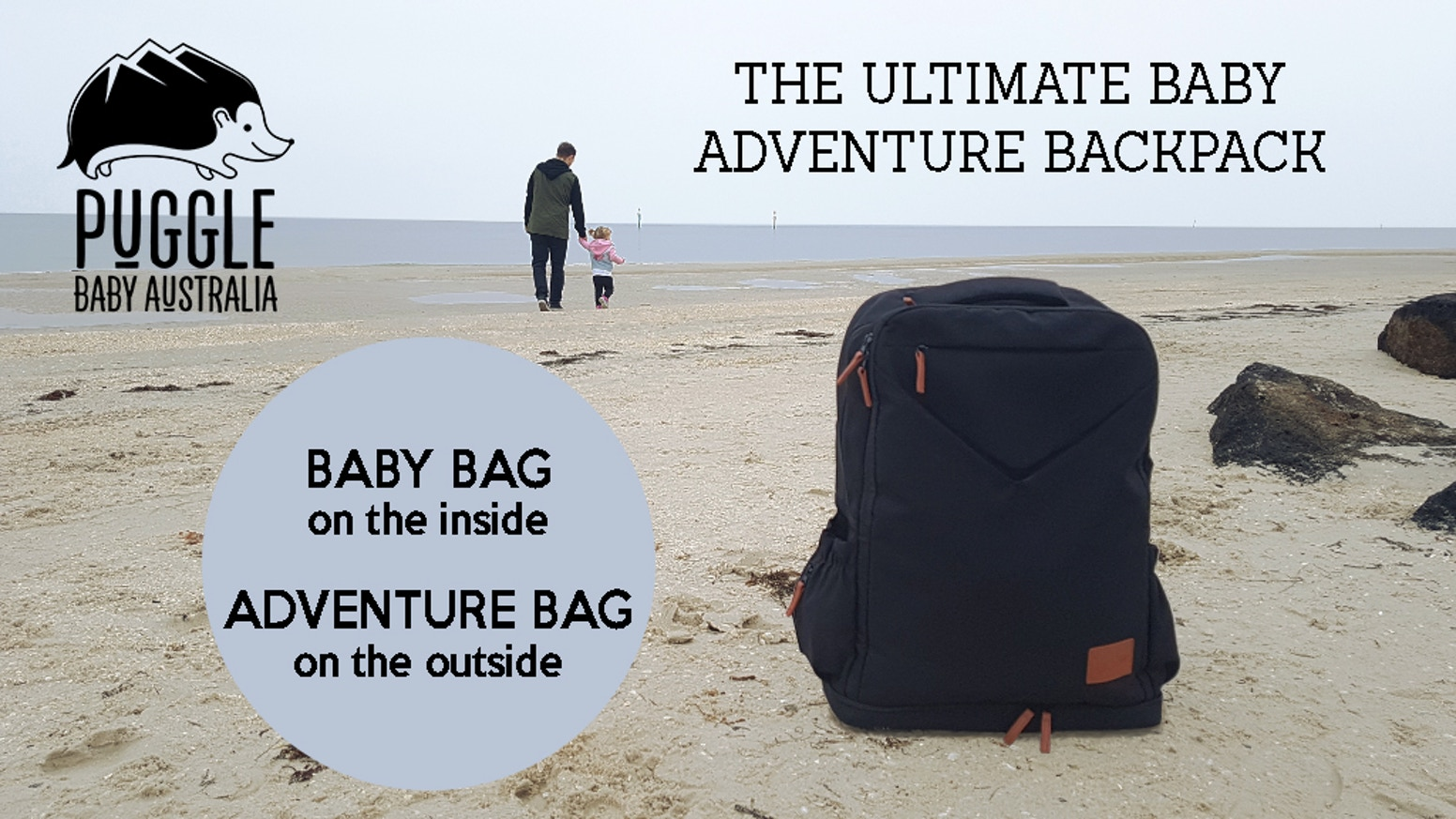 An Adventure Bag on the outside and a Baby Backpack on the inside.
