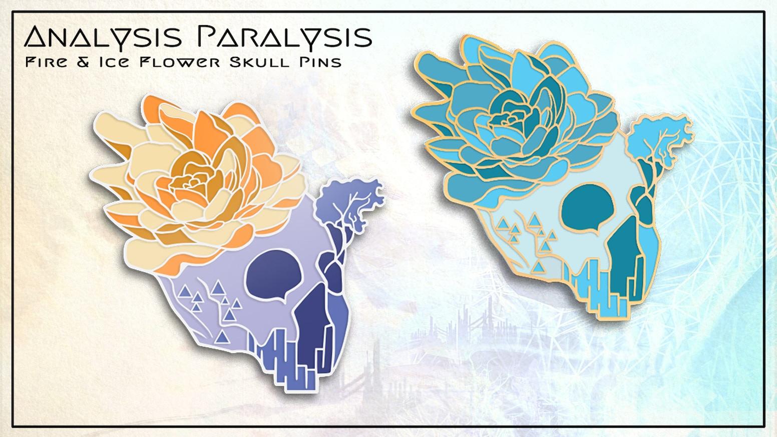 Fire   Ice Flower Skull Enamel Pins by Justin Totemical — Kickstarter 6d7ae9e0dfb