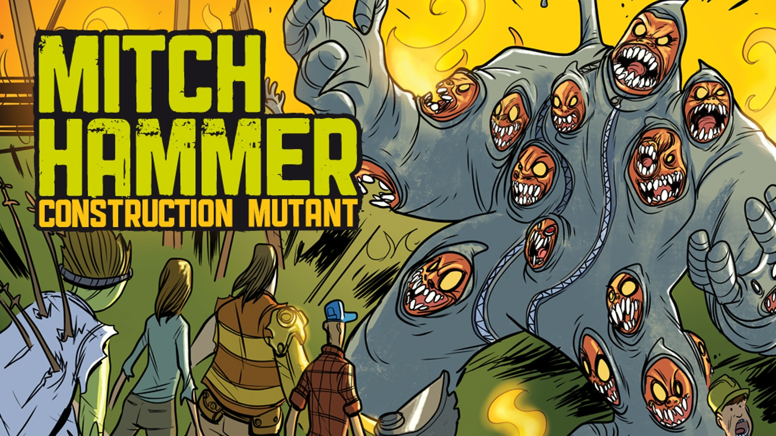 "The world's favorite ""construction worker with a backhoe digger for an arm vs. mutated menaces"" comic returns!"