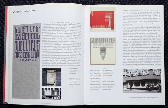 """Double-page spread about Wendingen magazine and the """"Amsterdam School"""""""