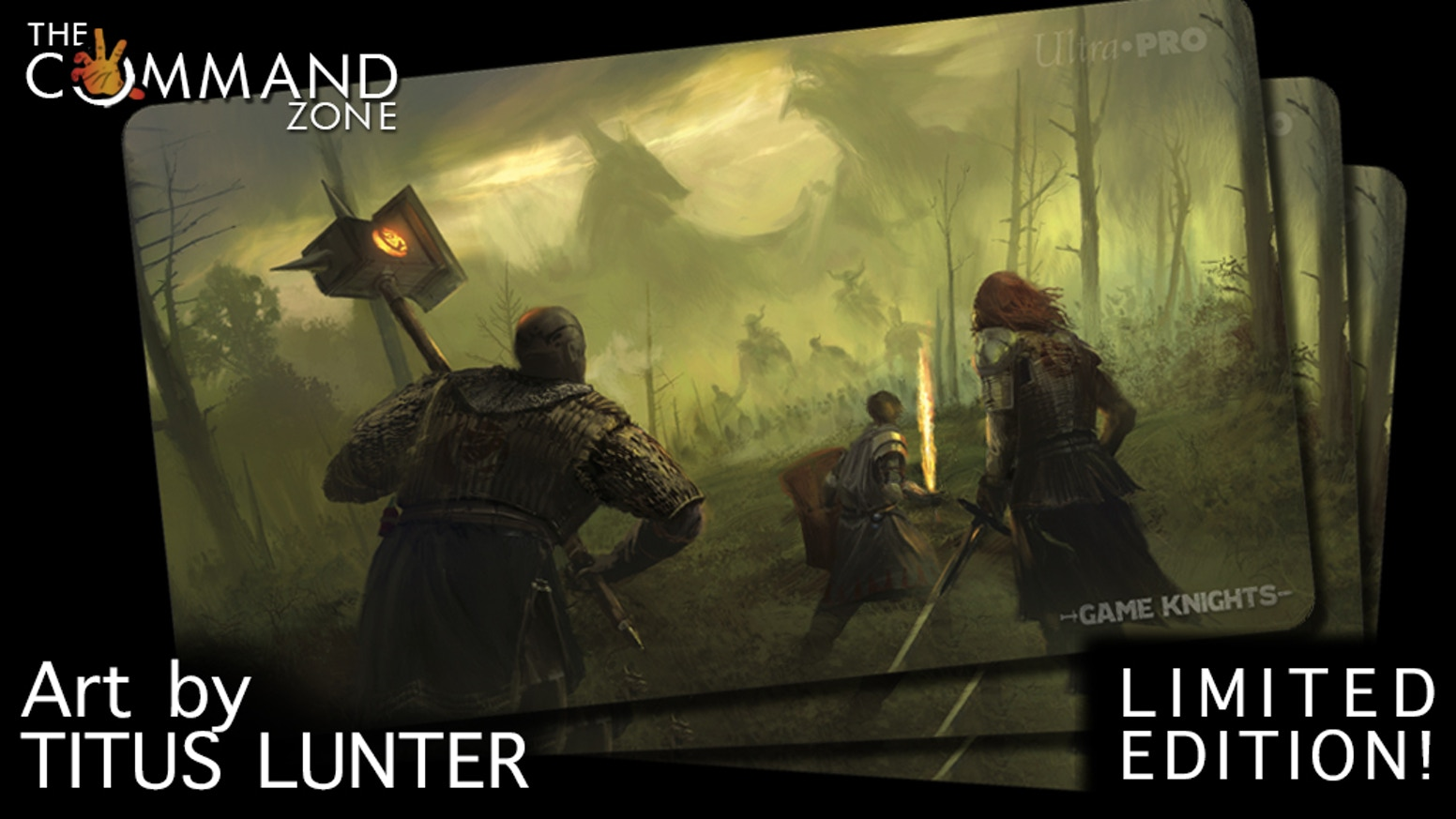 Last Stand Limited Edition Game Knights Playmat By Jimmy