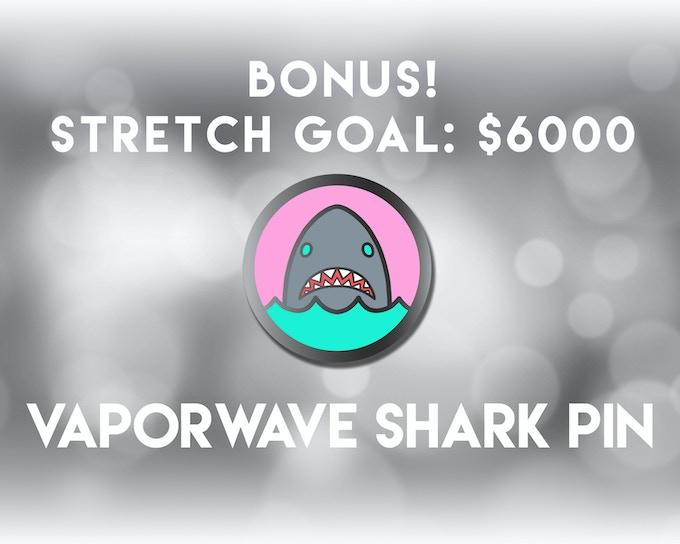The Vaporwave Shark Pin