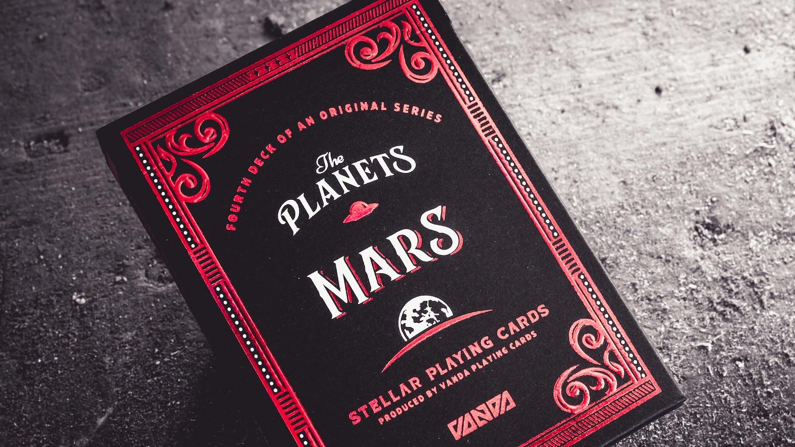 A deck of Stellar Playing Cards — Vanda Artists Series designed by Srdjan Vidakovic.