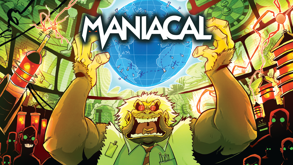 MANIACAL - A Game of Evildoing for 2-5 Supervillains! project video thumbnail
