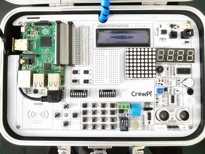 Install Raspberry Pi 3 on CrowPi Board