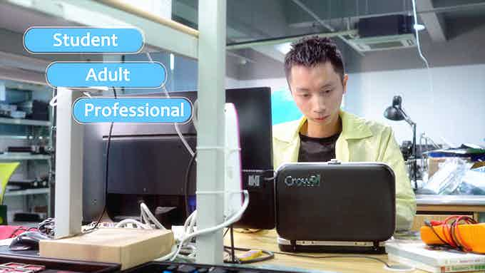No matter you're student, adult or professional, CrowPi is useful in any scenario.