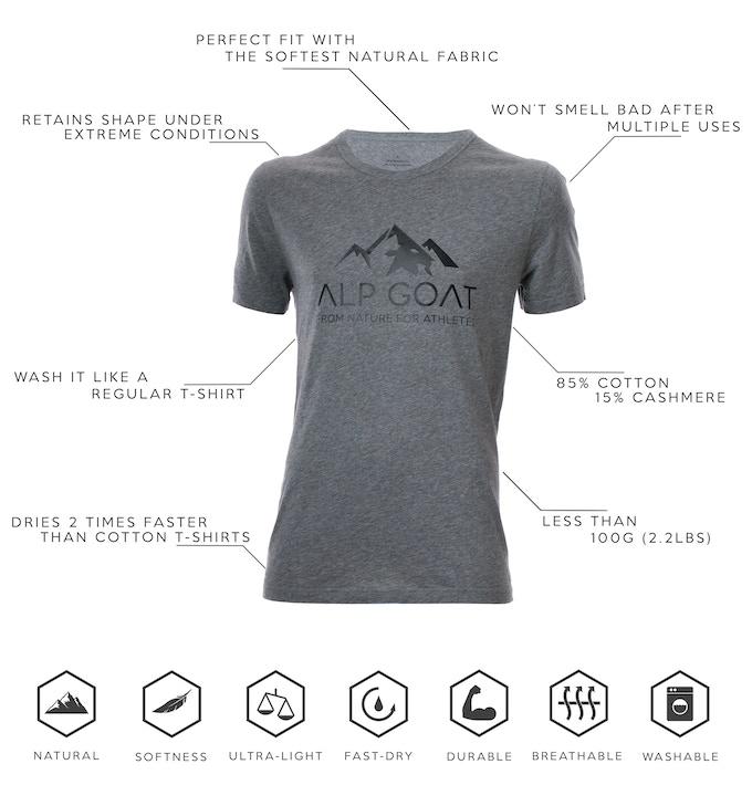 Alp Goat - The alternative all-natural sport shirt by Alp