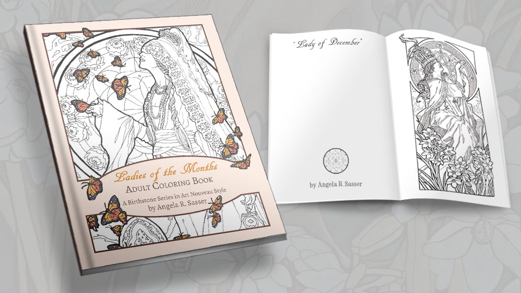 Ladies of the Months Coloring Book by Angela R. Sasser project video thumbnail