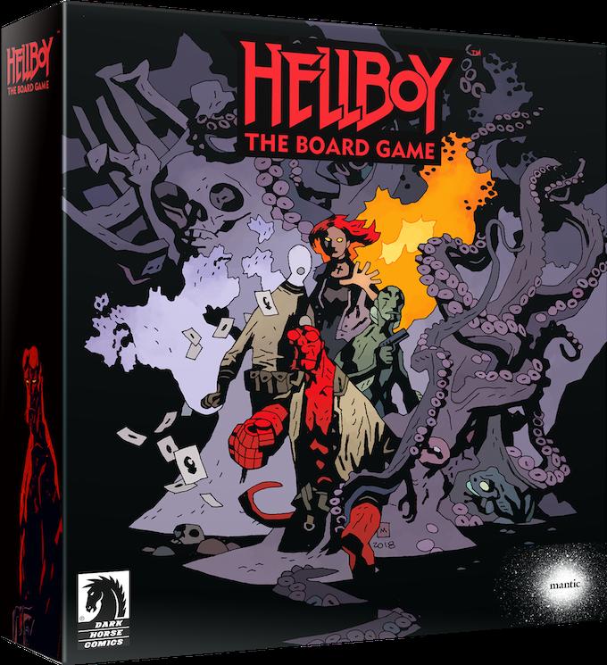 Kickstarter exclusive box artwork drawn by Mike Mignola!
