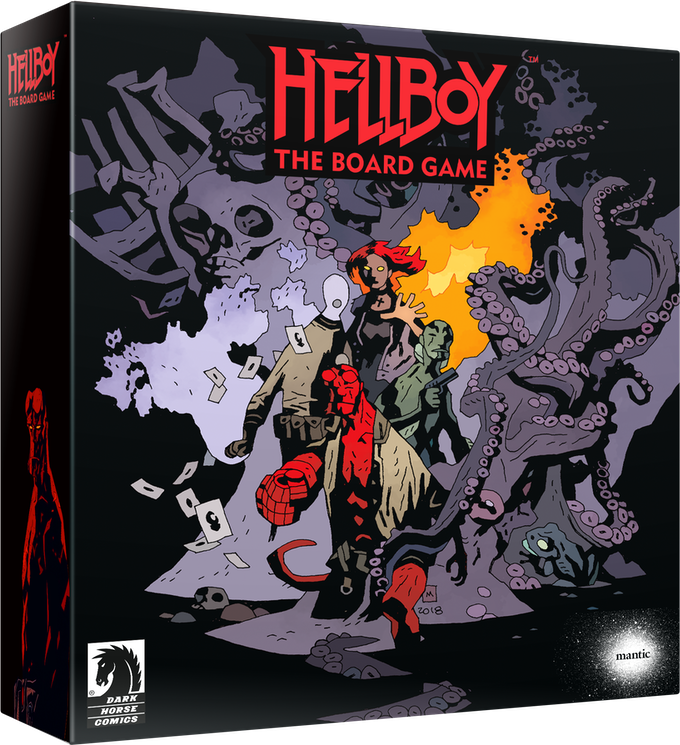 Kickstarter exclusive box artwork drawn by Mike Mignola!