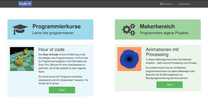 Der erste Programmierkurs und die erste Anwendung im Makerbereich