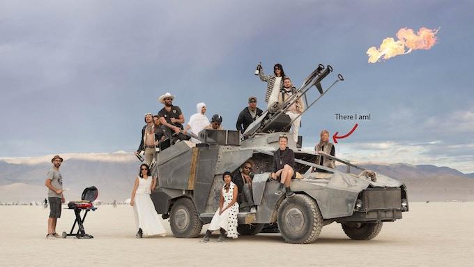 J.O.A.N. on an average sunrise, Burning Man