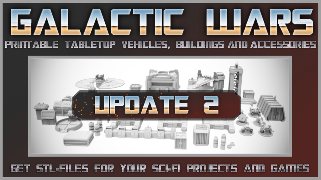 Galactic Wars UPDATE 2- printable tabletop vehicles + items project video thumbnail