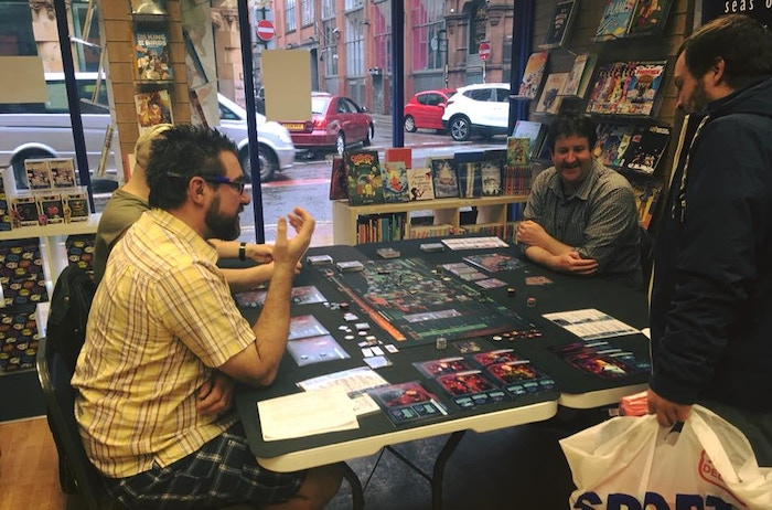 Demoing Lifeform at Travelling Man, Manchester