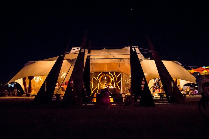 RX camp, The Institute Village, Burning Man. The tent is the largest thing I've ever designed and fabricated.