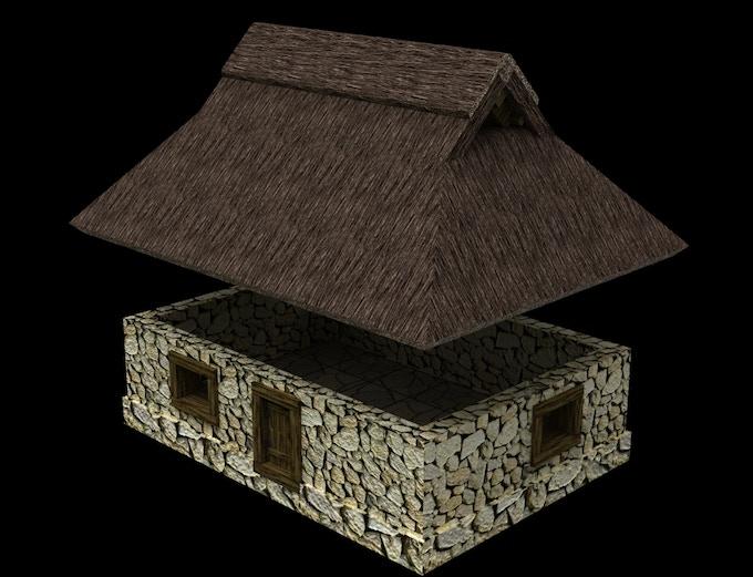 Stone House (colored STL-file)