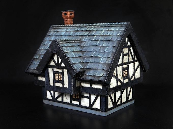 Tudor House (painted print model)