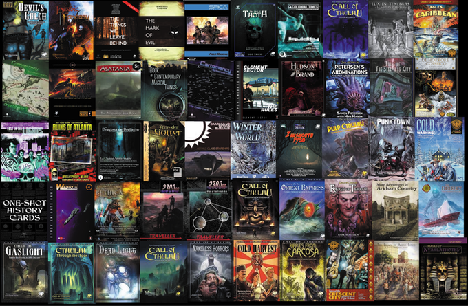Some of our contributions to RPG publishing