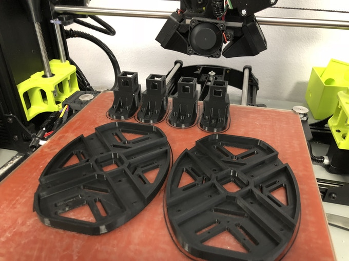 3D Printed Chassis and Motor Mounts