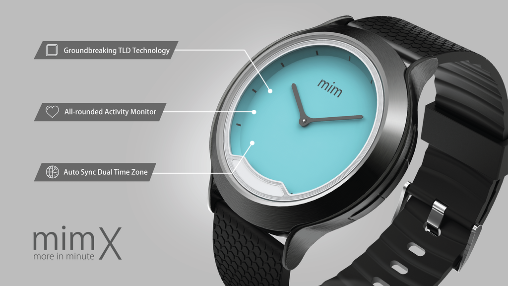 mim X - The first smartwatch with INVISIBLE display