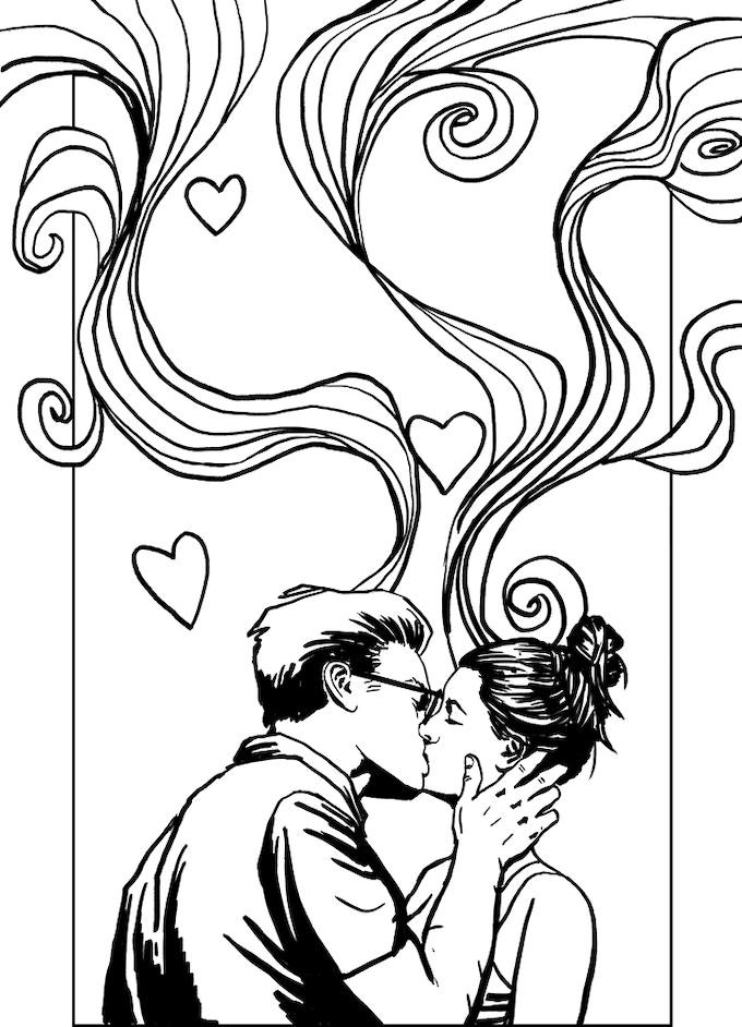 Original inked cover art