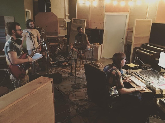 Recording with Fred Thomas.  {photo by Kaylan Mitchell}